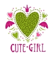 Cute girlish vector image