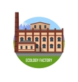 Ecology Factory Icon vector image vector image