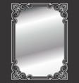 elegant ornate border silver vector image vector image