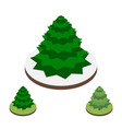fir-tree in isometric style vector image