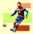 football 1-5 vector image vector image