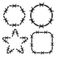 frame barbed wire set vector image vector image