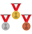 Gold Silver And Bronze Medals Education Concept vector image vector image