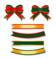 golden border christmas bow on white background vector image