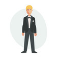 groom flat isolated vector image vector image