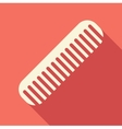 Hair comb icon flat style vector image vector image
