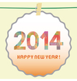Happy new year 2014 card5 vector image vector image