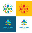 healthcare and medical logo and icon vector image