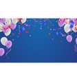 holday elegant card with party purple air vector image