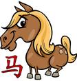 horse chinese zodiac horoscope sign vector image vector image