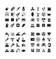 House system icons vector image