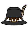 isolated pilgrim hat vector image vector image