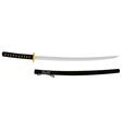 Japanese katana sword vector image vector image