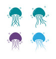 jelly fish icon design vector image