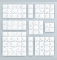 jigsaw puzzle templates set puzzle vector image