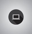 Laptop symbol flat vector image