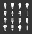 light bulb icons set grey vector image