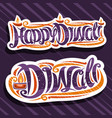 logos for indian diwali vector image vector image