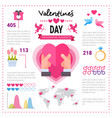 love infographic banner with copy space set of vector image
