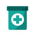 medical bottle capsule healthcare pharmacy vector image