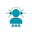 men silhouette with headphones vector image vector image