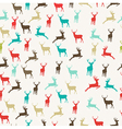 Merry Christmas reindeer seamless pattern vector image vector image