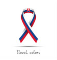 modern colored ribbon with the slovak tricolor vector image vector image