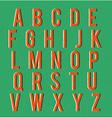 Multiplied retro alphabet vector image vector image