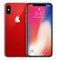 new smart phone front frame and product red side vector image