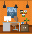 office workplace interior vector image vector image
