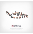 People map country Indonesia