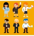 People using mobile phones vector image