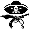 piracy symbol vector image vector image