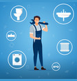 plumbing services concept vector image