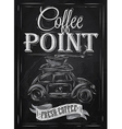 Poster retro coffee chalk chalk vector image vector image