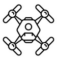 quadcopter icon outline style vector image vector image