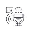 radio show line icon concept radio show vector image vector image