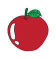 red apple symbol mascot best for print vector image