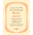 Retro Wedding Invitation vector image vector image