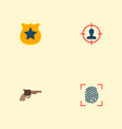 set of crime icons flat style symbols with vector image