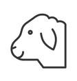 sheep head farm animal line style editable vector image vector image