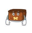 silent brownies mascot cartoon style vector image vector image