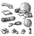 sketch hand drawn collection of elements for vector image