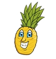 Smiling pineapple 2 vector image