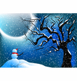 snowman and snow vector image