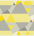 squaire and stripe geometric seamless pattern vector image vector image