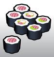 Teka Makki Sushi vector image vector image