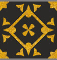 tile decorative floor gold and black tiles pattern vector image