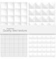 Tile white textures vector image