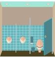 Toilet interior Public vector image